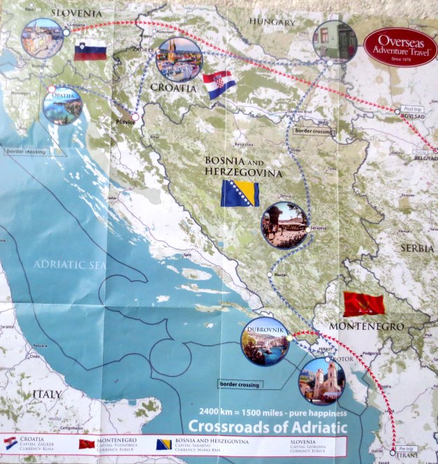 Croatia Trip Map 002